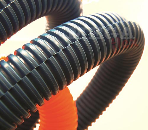 Corrugated Polypropylene Split Conduit (PP Split Conduit) for Wiring and Cable Management IP54 Rated
