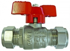T Handle Ball Valve Compression Ends