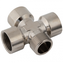 Equal Cross BSPT x BSPP Nickel Plated