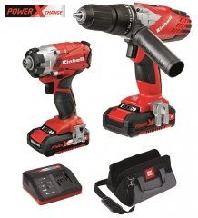Power-X Combi Drill / Impact Driver Twin Pack 18v Cordless