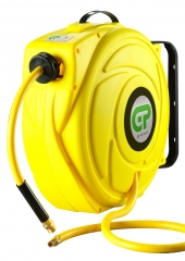 17 Metre Hi-Visibility Retractable Air Hose Reel - Yellow Case & Hose