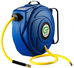 17 Metre Retractable Air Hose Reel Blue Case & Yellow Hose