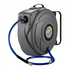 17 Metre Retractable Air Hose Reel - Grey Case & Blue Hose