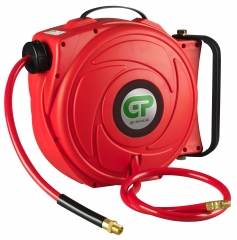 17 Metre Retractable Air Hose Reel - Red Case & Hose