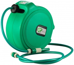 20 Metre Retractable Water Hose Reel - Green Case & Hose