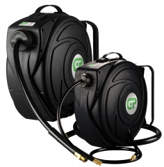 9 Metre Compact Retractable Air Hose Reel - Black Case & Hose