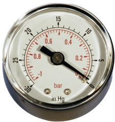 Vacuum Gauges 40mm 50mm 63mm 100mm Back Connection