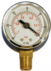 Vacuum Gauges 40mm 50mm 63mm 100mm Btm entry