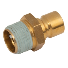 300/87 Series Adaptors BSPT Male Valved