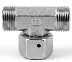 Parker EO Swivel Nut Branch Tee 24 deg Flareless Swivel Female