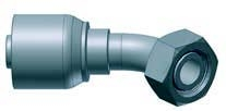 Female 45 deg Swivel Elbow 24 deg Metric