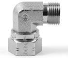 Male/Female Equal Swivel Elbow BSPP 60 deg Coned