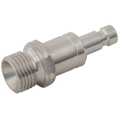 Parker Legris 21 Series Stainless Steel Adaptors BSPP Male Valved