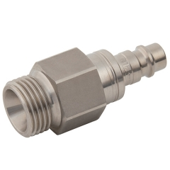 Parker Legris 25 Series Stainless Steel Adaptors BSPP Male Valved