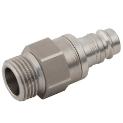 Parker Legris 27 Series Stainless Steel Adaptors BSPP Male Valved