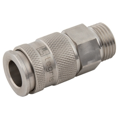 Parker Legris 27 Series Stainless Steel Couplings BSPP Male