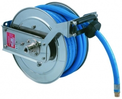 Heavy Duty Stainless Steel Retractable Hose Reel c/w 15 Metres Food Quality Hose