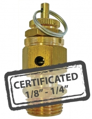 Calibrated Safety Relief Valves c/w Certificate 1/8