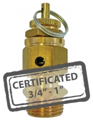Calibrated Safety Relief Valves c/w Certificate 3/4