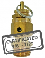 Calibrated Safety Relief Valves c/w Certificate 3/8