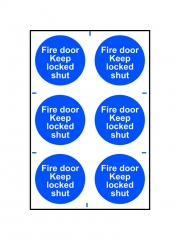 Safety Sign - Fire Door Keep Locked Shut