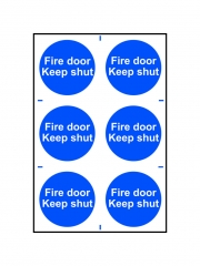 Safety Sign - Fire Door Keep Shut