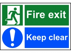 Safety Sign - Fire Exit Keep Clear