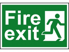Safety Sign - Fire Exit Man Running Right
