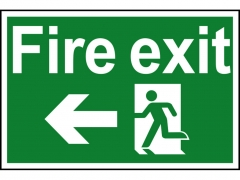 Safety Sign - Fire Exit Running Man Arrow Left