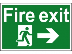 Safety Sign - Fire Exit Running Man Arrow Right