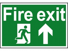 Safety Sign - Fire Exit Running Man Arrow Up