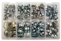 Mild Steel Double Ear Clamps Selection (Avg 176 Pieces)