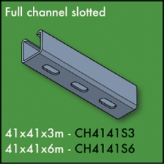 3 Metre Slotted Full Channel 41mm x 41mm