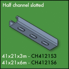 3 Metre Slotted Half Channel 41mm x 21mm