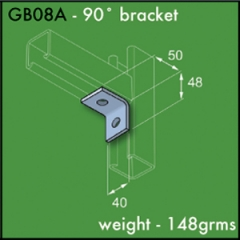 90 Degree Brackets (1 x 1 Hole)