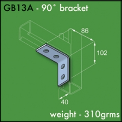 90 Degree Brackets (2 x 2 Hole)