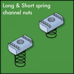 Channel Nuts c/w Springs