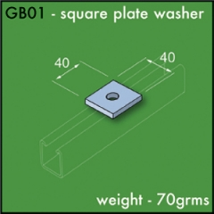 Square Washers BZP