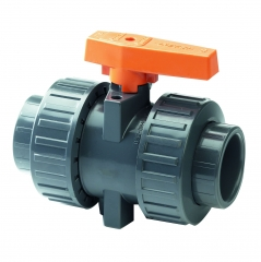 UPVC Industrial Plain Double Union Ball Valve (EPDM Seals)