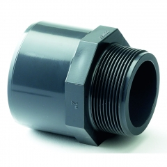UPVC Plain Female/Plain Male - Male Threaded Adaptor