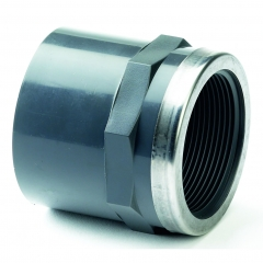 UPVC Plain/Threaded Stainless Steel Reinforced Equal Socket