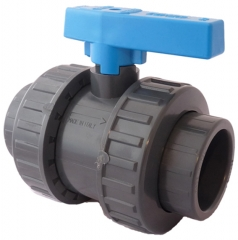 UPVC Standard Plain Double Union Ball Valve (EPDM Seals)