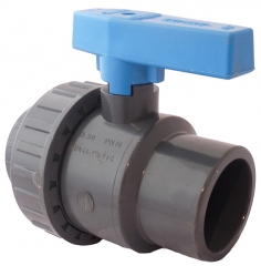 UPVC Standard Plain Single Union Ball Valve (EPDM Seals)