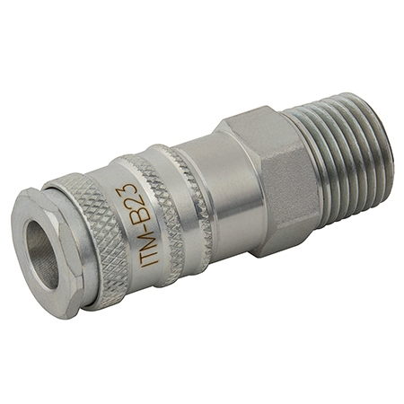 BE-23 ISO Couplings BSPT Male
