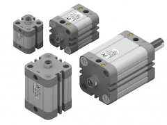 Pneumax Compact Cylinders ISO 21287 Double Acting 20mm - 100mm
