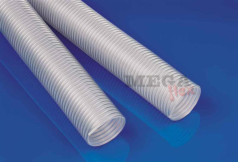 Master-PO H Food Grade Medium Duty Polyolefin Ducting with non-rusting Spring Steel Wire Helix