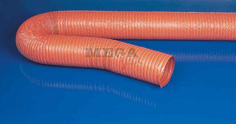 Master-SIL L Single Ply Silicon coated Glass Fabric Ducting with Spring Steel Wire Helix
