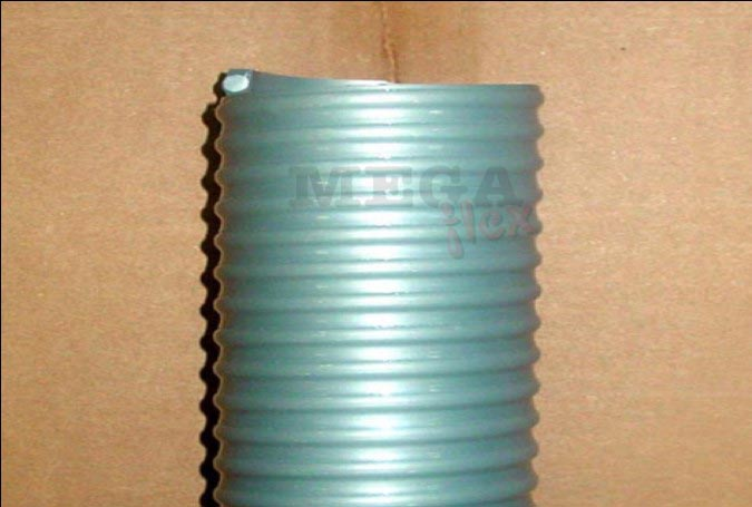 Novi Industrial Heavy Duty Grey PVC Suction & Delivery Hose with Rigid PVC Helix for sand, gravel, cement & slurry