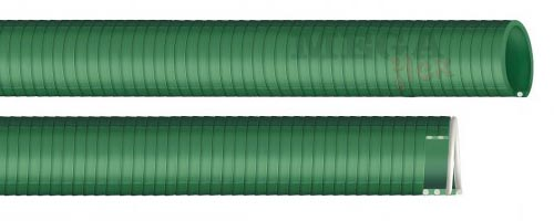 MDS - Olive Green General Purpose PVC Suction and Delivery Hose with Rigid PVC Helix Reinforcement (Medium Duty)