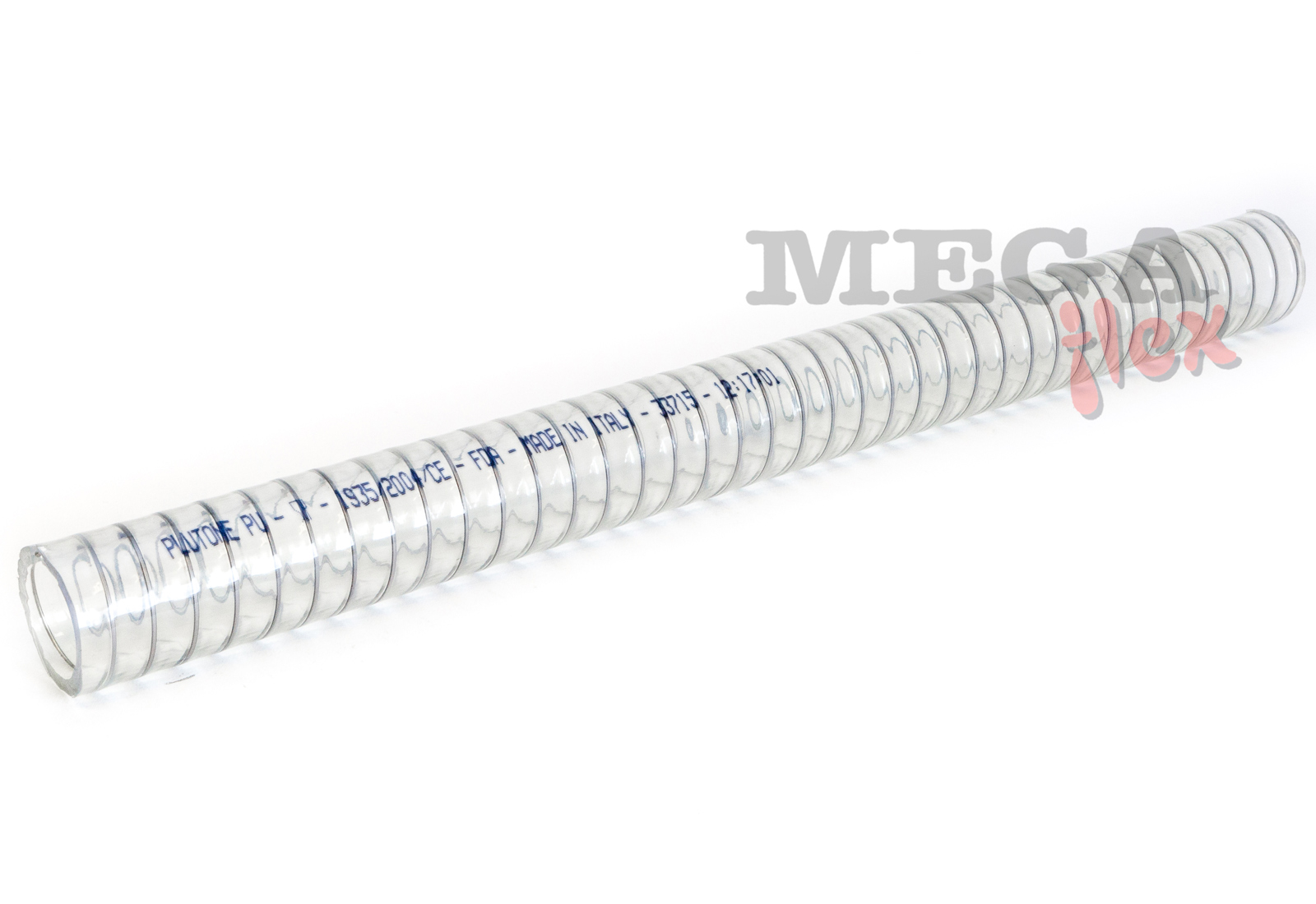 Plutone PU - Clear Ether Polyurethane Suction and Delivery Hose Reinforced with Stainless Steel Helix
